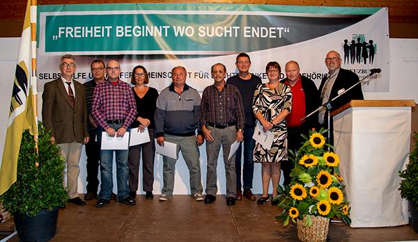 Geehrte Mitglieder zur langjährigen Mitgliedschaft im Kreuzbund Diözesanverband Würzburg